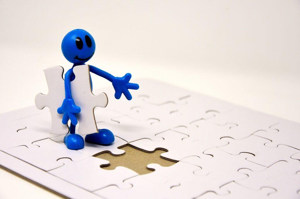 figure, puzzle, last part